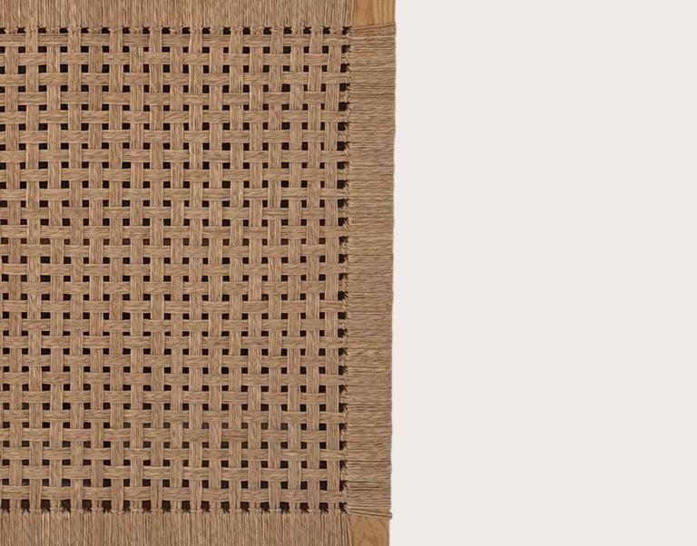 Mid-Century Modern Solid Wood Midcentury Michael van Beuren Credenza with Woven Doors by Luteca For Sale