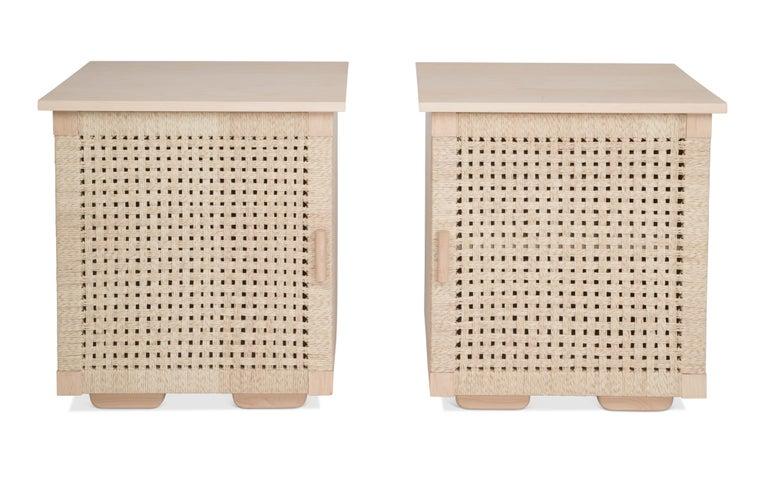 Solid Wood Midcentury Michael van Beuren Credenza with Woven Doors by Luteca 6