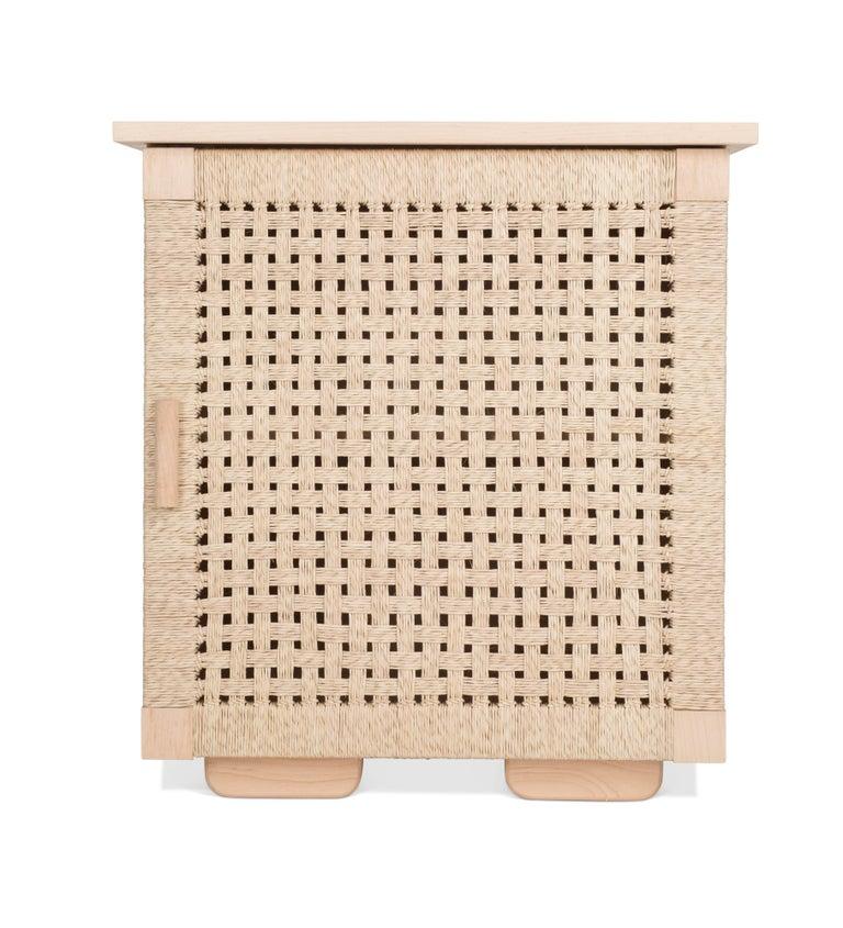 Solid Wood Midcentury Michael van Beuren Credenza with Woven Doors by Luteca 7