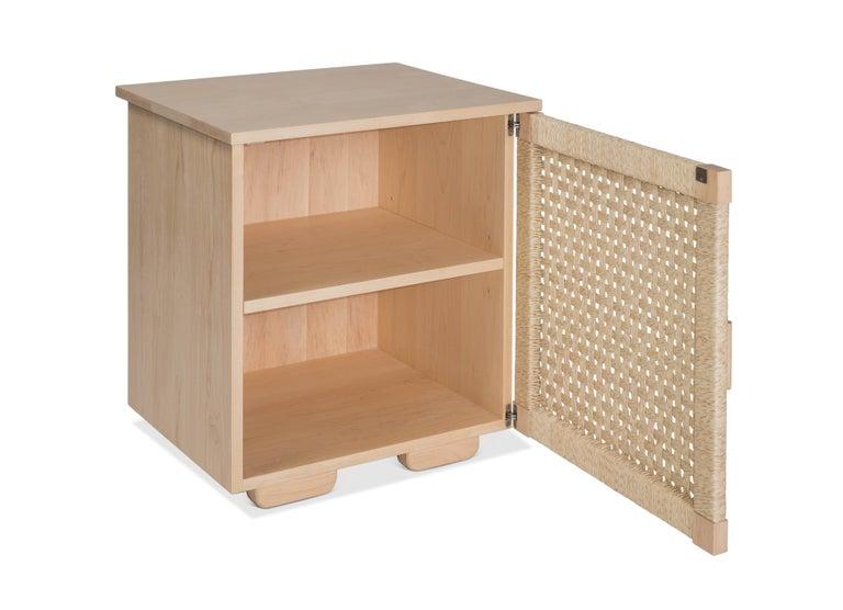 Solid Wood Midcentury Michael van Beuren Credenza with Woven Doors by Luteca 8