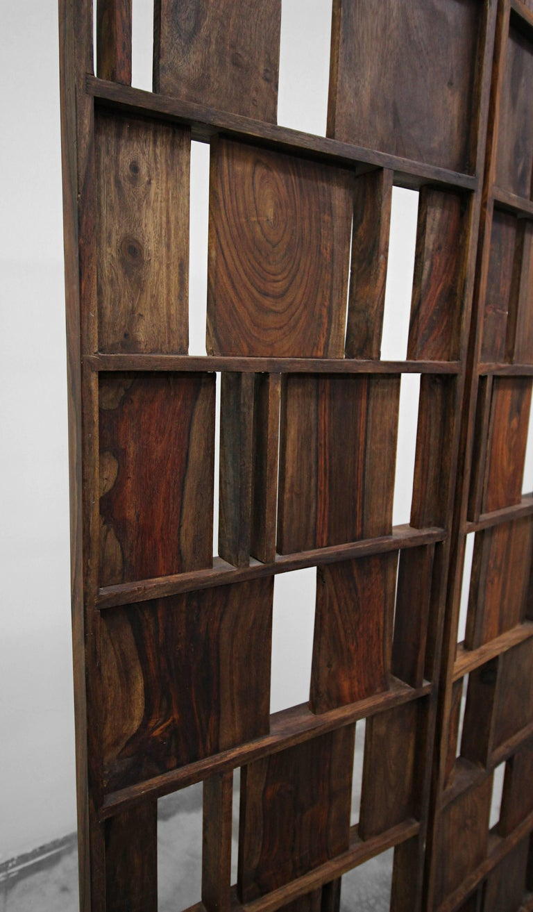 Solid Wood Panel Room Divider Decorative Screen For Sale at 1stdibs