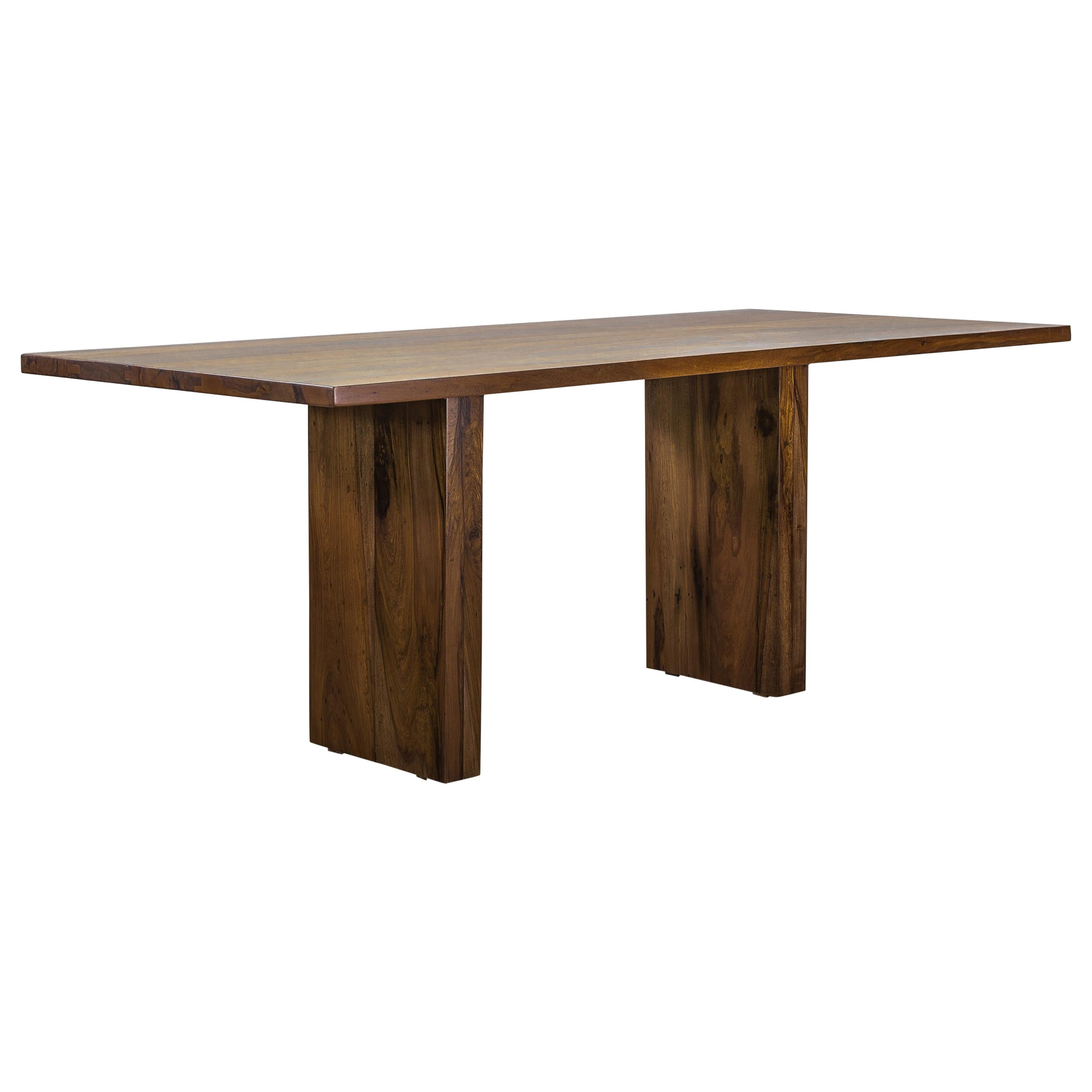 Solid Wood Twin Pedestal Modern Dining Table from Costantini, Andre 'In Stock'