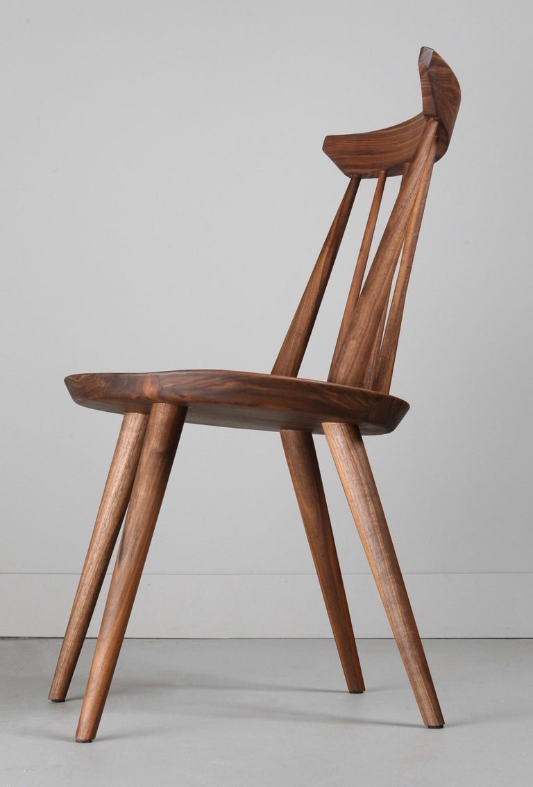 Canadian Solid Wood Windsor Style Dining Chair, Spindle Back Chair by Möbius Objects For Sale