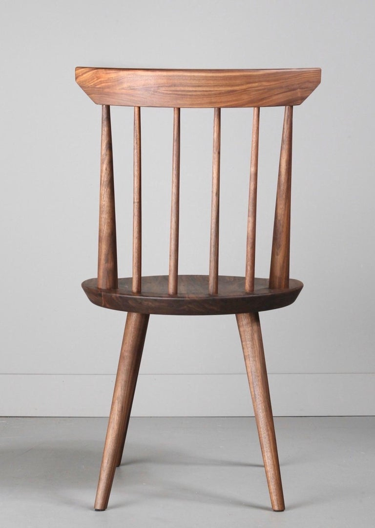 Turned Solid Wood Windsor Style Dining Chair, Spindle Back Chair by Möbius Objects For Sale