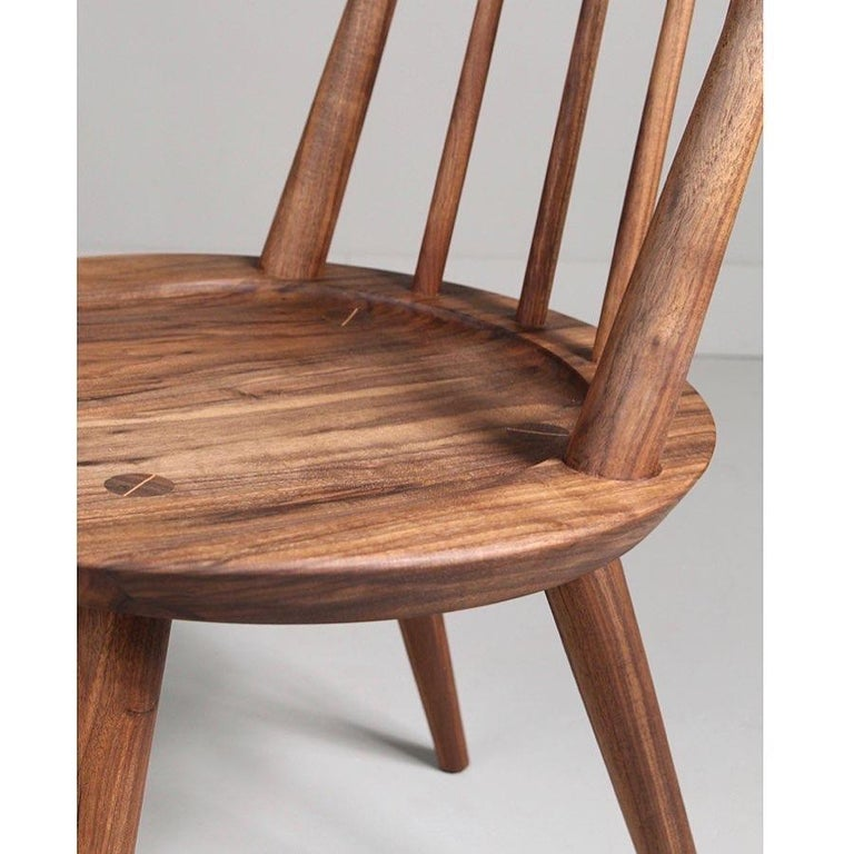 Solid Wood Windsor Style Dining Chair, Spindle Back Chair by Möbius Objects In New Condition For Sale In Calgary, CA