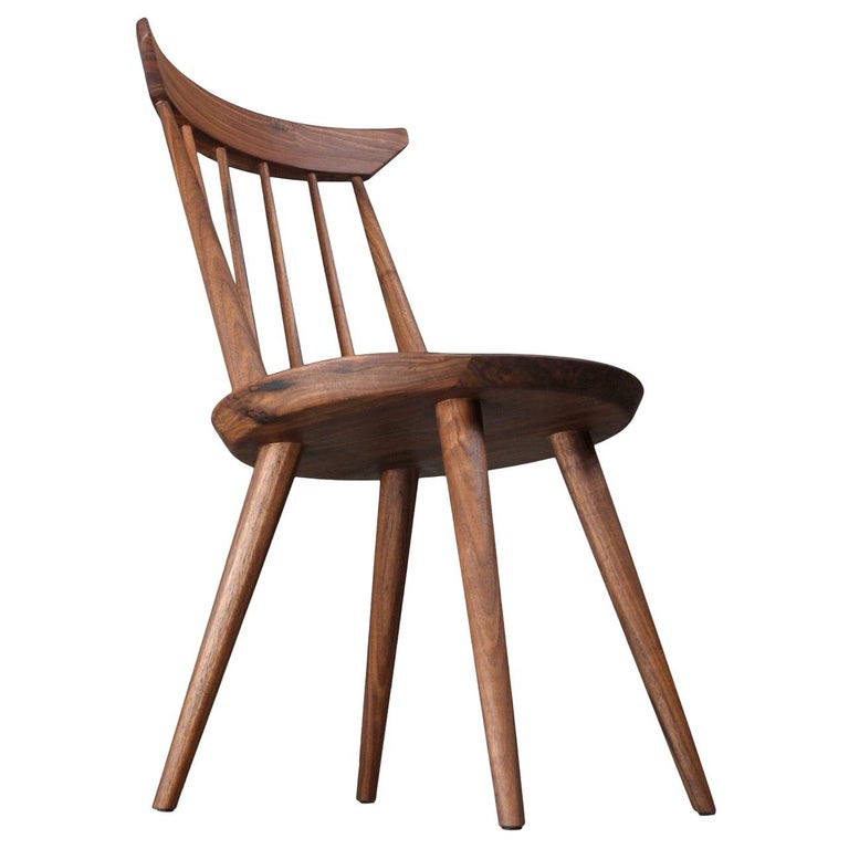 Solid Wood Windsor Style Dining Chair, Spindle Back Chair by Möbius Objects For Sale