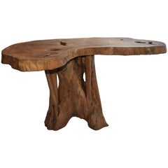 Solid Wooden Organic Tree Table by Mr. Erasmus, Ghana, 2014