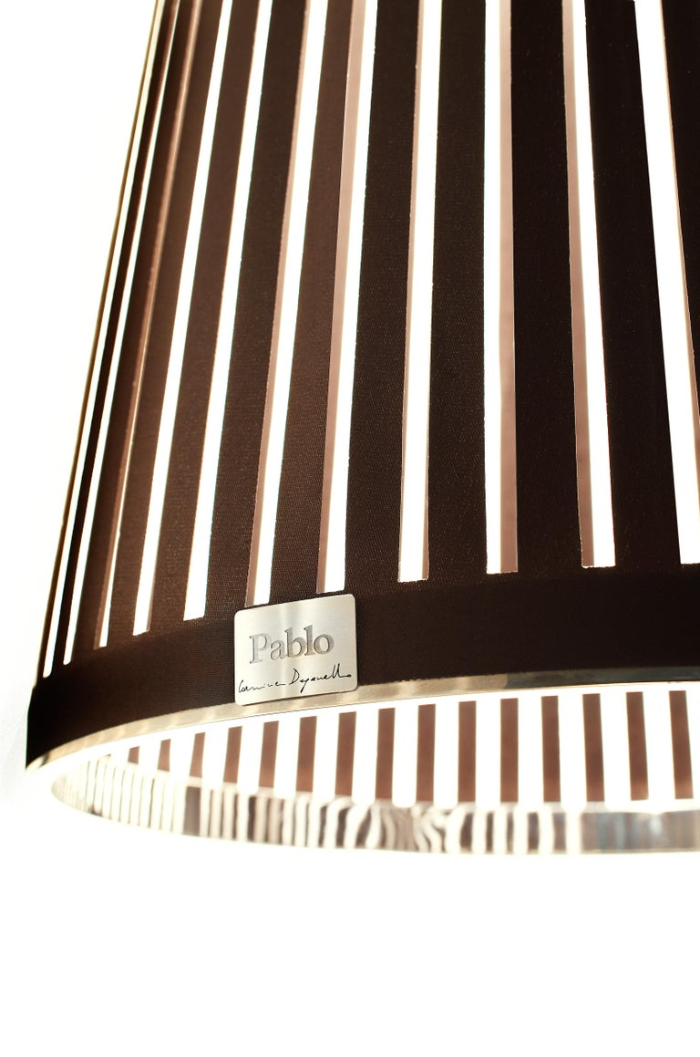 Modern Solis 24 Pendant Light in Brown by Pablo Designs For Sale