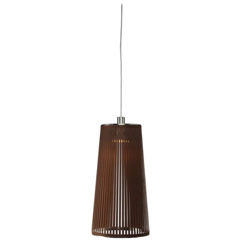 Solis 24 Pendant Light in Brown by Pablo Designs For Sale
