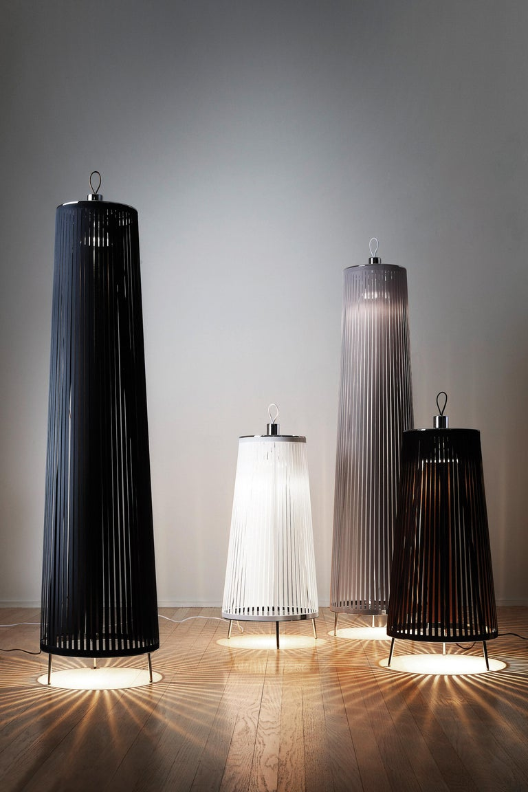 Modern Solis 48 Freestanding Lamp in Silver by Pablo Designs For Sale