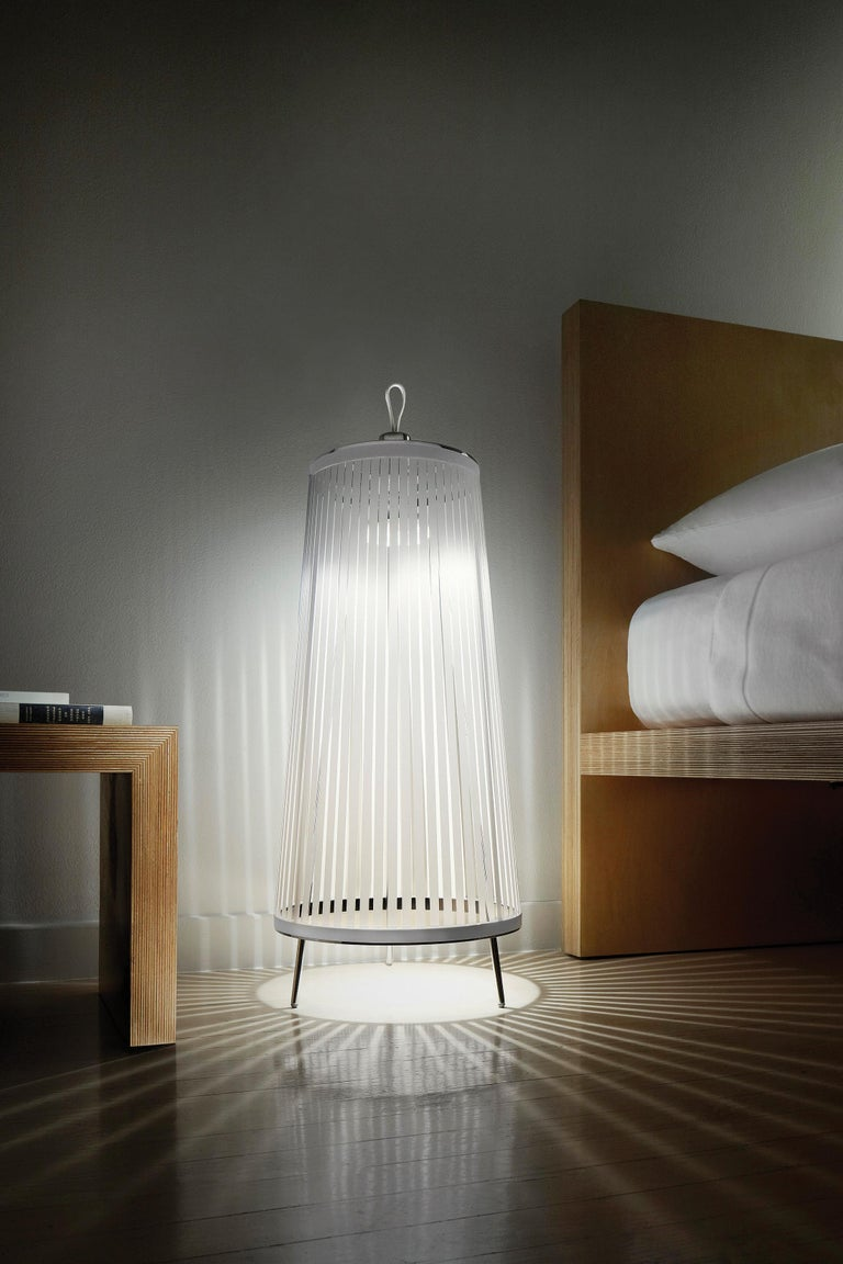 American Solis 48 Freestanding Lamp in Silver by Pablo Designs For Sale