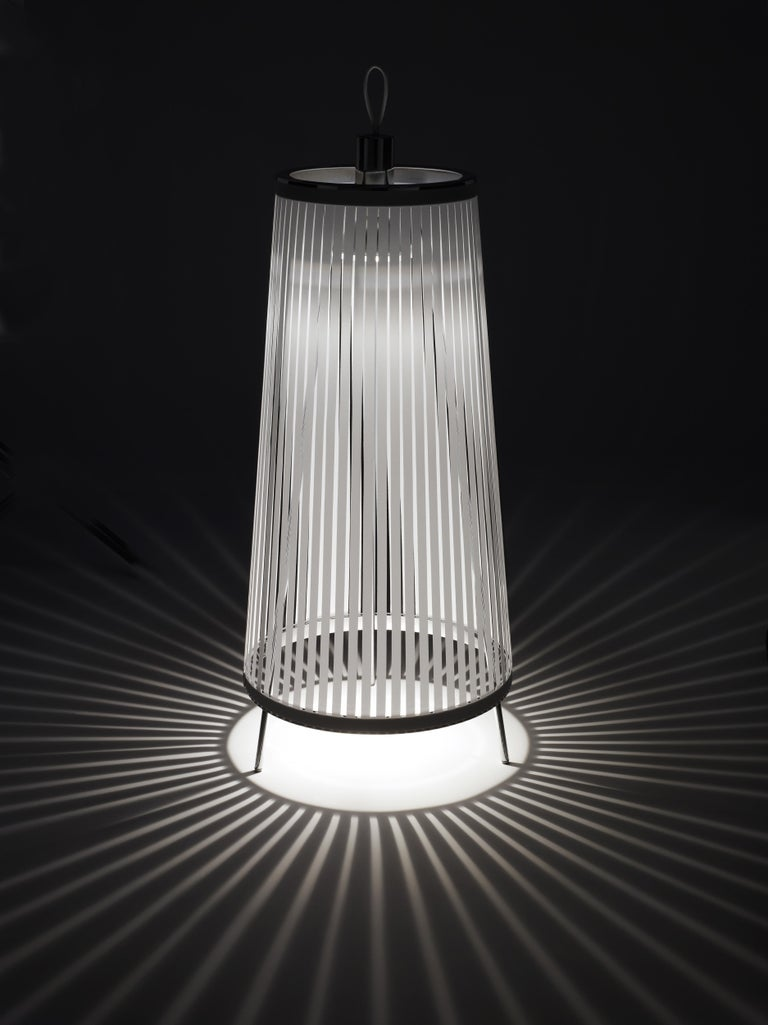 Solis 48 Freestanding Lamp in Silver by Pablo Designs In New Condition For Sale In San Francisco, CA
