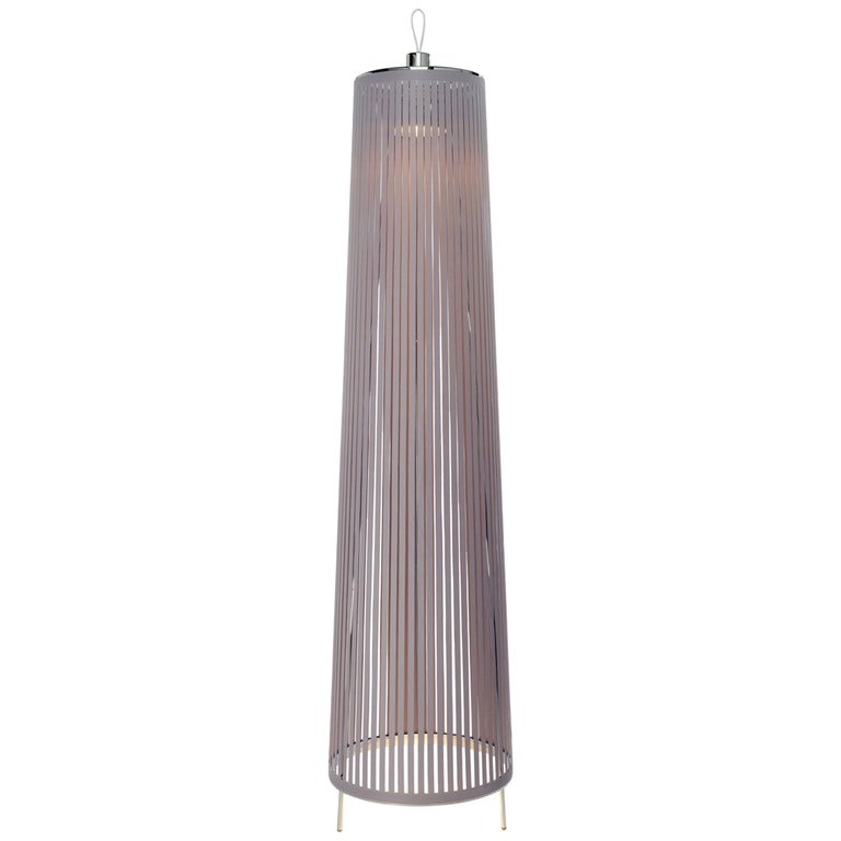 Solis 48 Freestanding Lamp in Silver by Pablo Designs For Sale