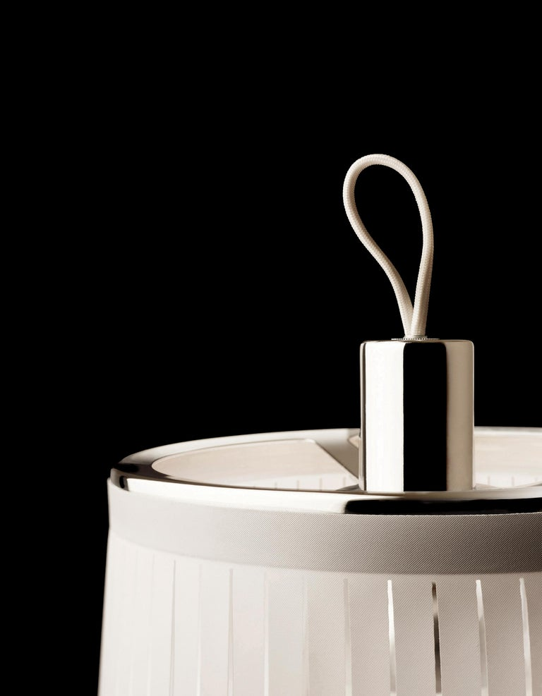 Modern Solis 48 Pendant Light in White by Pablo Designs For Sale