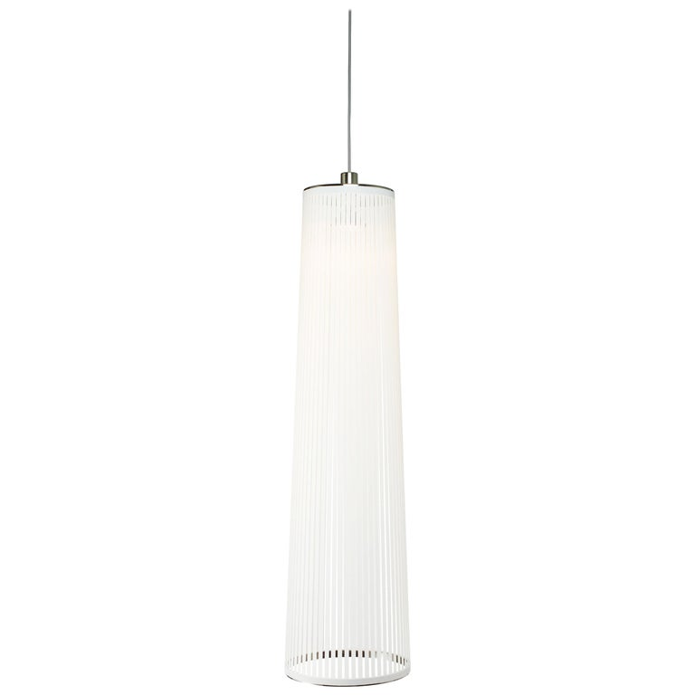 Solis 48 Pendant Light in White by Pablo Designs For Sale