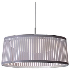 Solis Drum 24 Pendant Light in Silver by Pablo Designs
