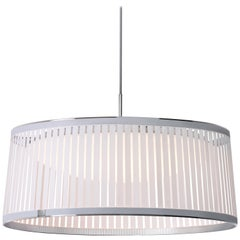 Solis Drum 24 Pendant Light in White by Pablo Designs