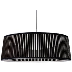 Solis Drum 36 Pendant Light in Black by Pablo Designs