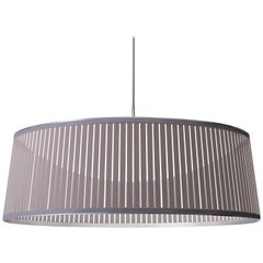 Solis Drum 36 Pendant Light in Silver by Pablo Designs