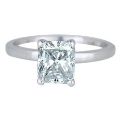 Solitaire, Cushion 1.55 Carat Diamond, SI1, 14 Karat