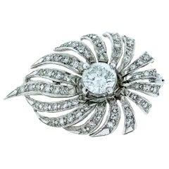 Solitaire Diamond, 1.58 Carat Spray Pin