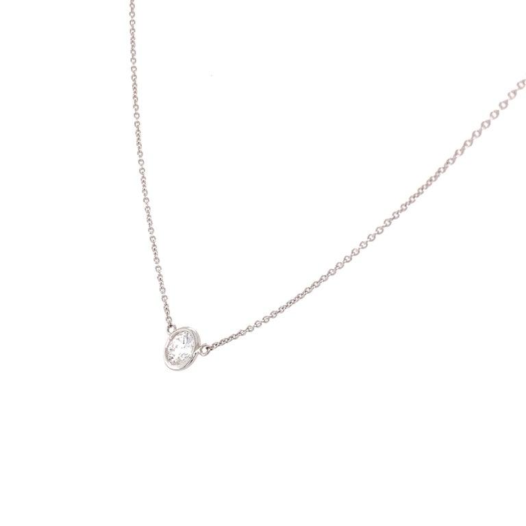 Brilliant Cut Solitaire Diamond Pendant Necklace For Sale