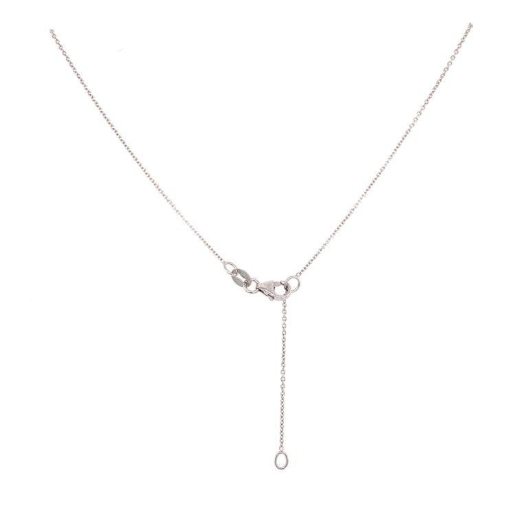 Solitaire Diamond Pendant Necklace In New Condition For Sale In Miami, FL