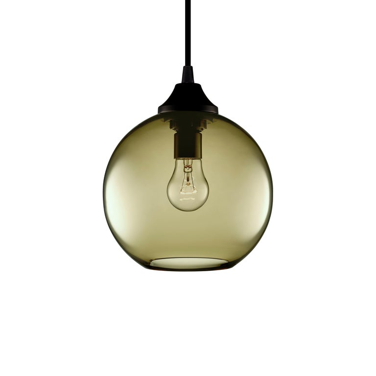 Solitaire Pee Smoke Handn Modern Gl Pendant Light Made In The Usa