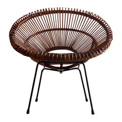 Solitaire Rattan Chair by Janine Abraham & Dirk Jan Rol, France, circa 1950