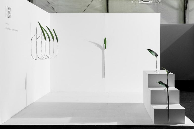 Brazilian Contemporary Silver Plated Steel Vase