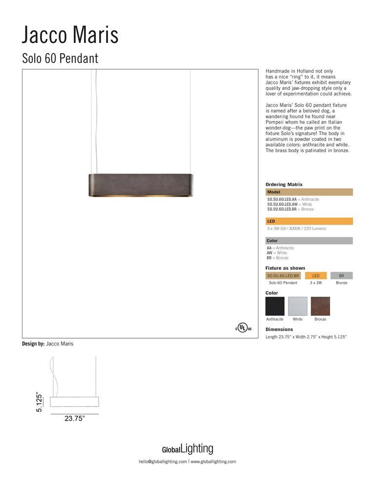 Solo 60 Pendant Light by Jacco Maris For Sale 1