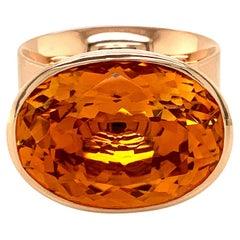 Georg Spreng - Solo Ring 18 Karat Rosé Gold with oval Citrine Orange