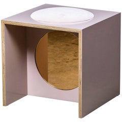 Solo Stool in Rose from the Qualia Collection by Azadeh Shladovsky