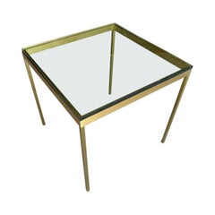 """Soma"" Occasional Table in Bronze-Plated Steel Made by Brueton"