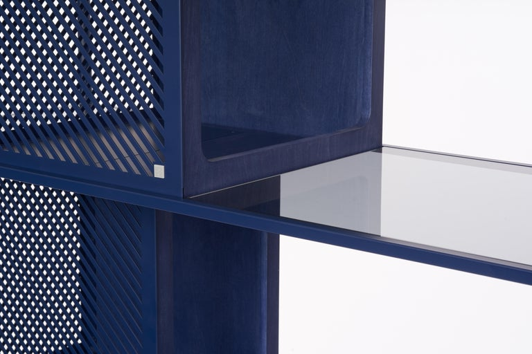 Frame: Featuring a laser-cut, cold-rolled steel frame with seamless finishes throughout. Custom eco-friendly matted powder coated finish. Built for easy assembly and knock-down. Custom eco-friendly matted powder-coat finish.   Lower