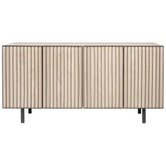 Sombra Steel and Ash Veneer Console