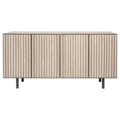 Sombra Steel and White Oak Veneer Credenza