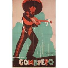 Sombrero 1959 Russian B1 Film Poster