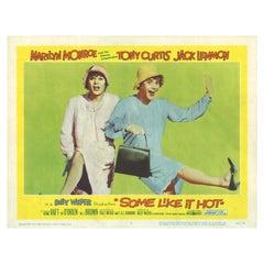 'Some Like It Hot' Original Vintage US Lobby Card Movie Poster, 1959