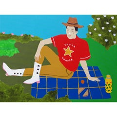 'Some Me Time' Portrait Painting by Alan Fears Pop Art Picnic