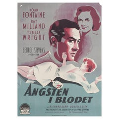 Something to Live For 1954 Danish A1 Film Poster
