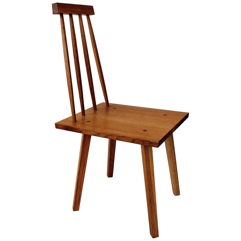 Sommar Dining Chair in White Oak with Spindle Back For Sale