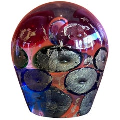 Sommerso Sculpture / Paperweight by Murano Glass