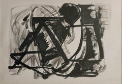"""Reclining Figure, Brush on Paper by Modern Indian Artist """"In Stock"""""""
