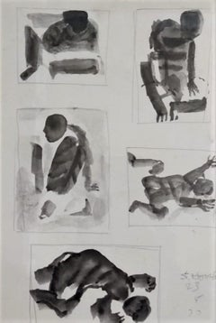 """Untitled, Brush on Paper by Modern Indian Artist """"In Stock"""""""