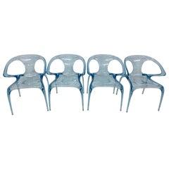 "Song Wen Zhong Blue ""Ava Bridge"" Dining Chairs for Roche Bobois"