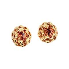 Gemjunky Stunning Unique Songea Sapphire 14 Karat Gold Earrings