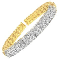 Sonia B 4.00 Carat Diamond Gold Bracelet Certified