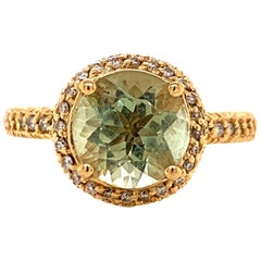 Sonia B. Bitton 14 Karat Yellow Gold Green Amethyst Ring
