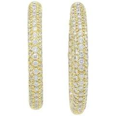 Sonia B Bitton 4.88 Carat Diamond Inside Out Hoop Earrings 18 Karat Yellow Gold
